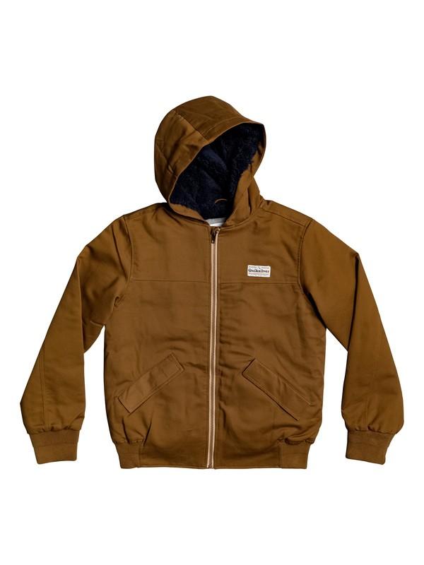 0 Clarendon Scot - Water-Resistant Hooded Jacket Brown EQBJK03180 Quiksilver