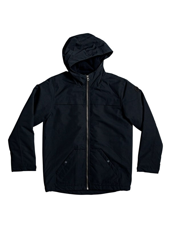 0 Waiting Period - Hooded Water-Resistant Parka Black EQBJK03181 Quiksilver