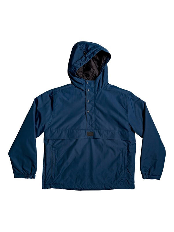 0 Tazawa - Hooded Water-Resistant Anorak Blue EQBJK03184 Quiksilver