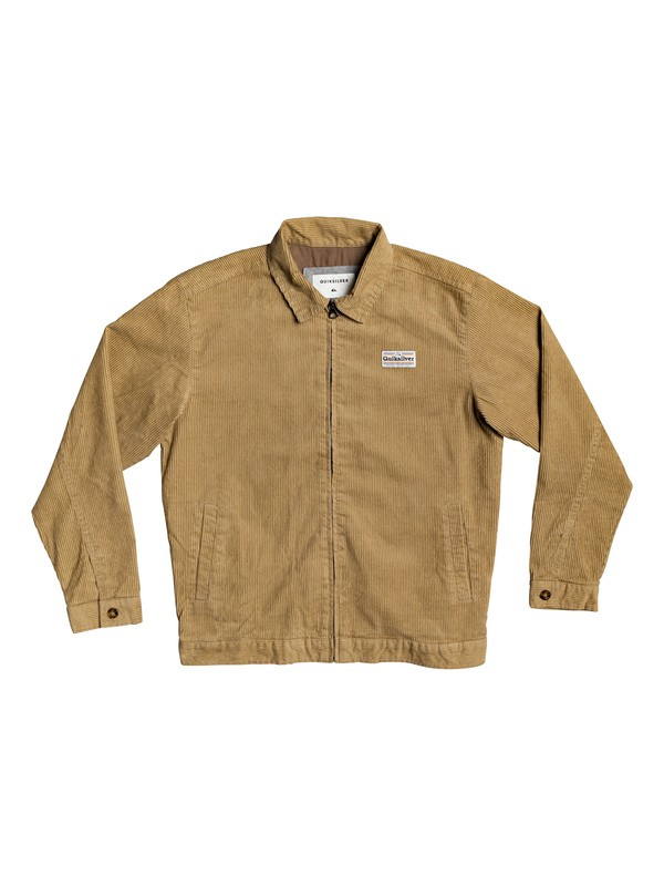 0 Yallingup - Zip-up Corduroy Jacket Brown EQBJK03186 Quiksilver