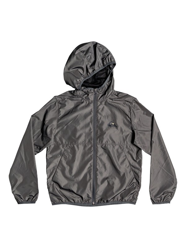 0 Boy's 8-16 Everyday Hooded Windbreaker Black EQBJK03189 Quiksilver