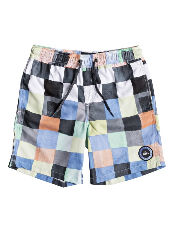"0 Resin Check 15"" - Swim Shorts for Boys 8-16 White EQBJV03139 Quiksilver"