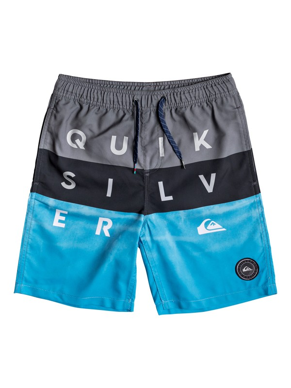 "0 Word Block 15"" - Swim Shorts for Boys 8-16 Black EQBJV03200 Quiksilver"
