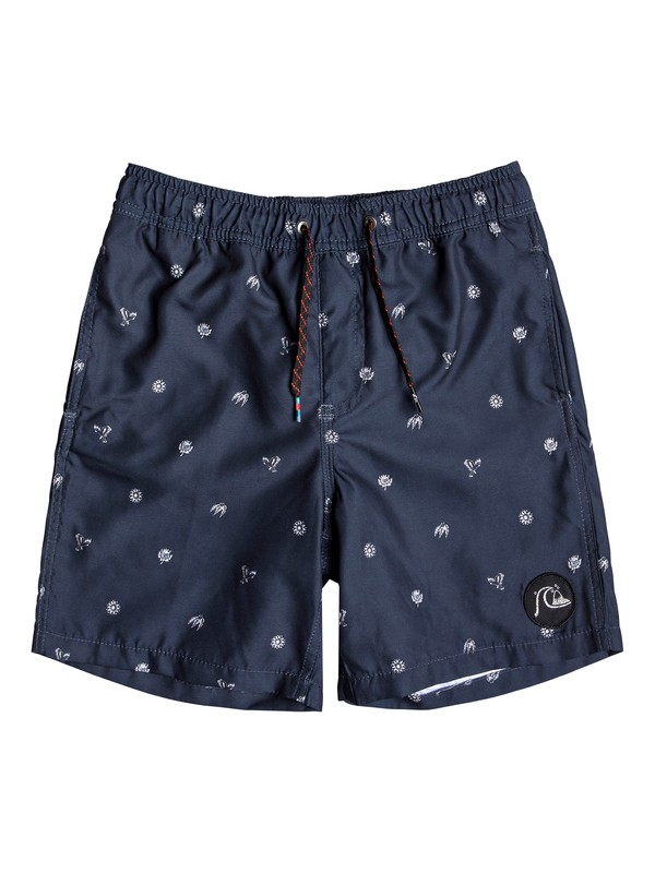 "0 Boy's 8-16 Voodoo 15"" Swim Shorts Blue EQBJV03221 Quiksilver"