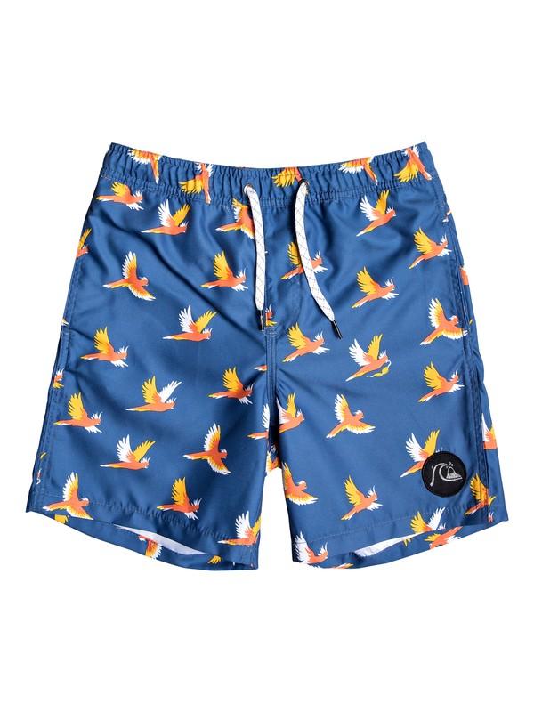 """0 Boy's 8-16 Cockatoo 15"""" Swim Shorts Blue EQBJV03222 Quiksilver"""