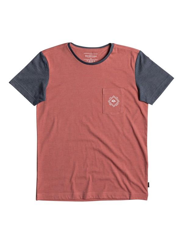 0 Baysic - T Shirt col rond pour Garçon 8-16 ans Rose EQBKT03169 Quiksilver