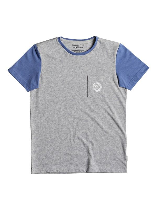 0 Baysic - T Shirt col rond pour Garçon 8-16 ans Gris EQBKT03169 Quiksilver
