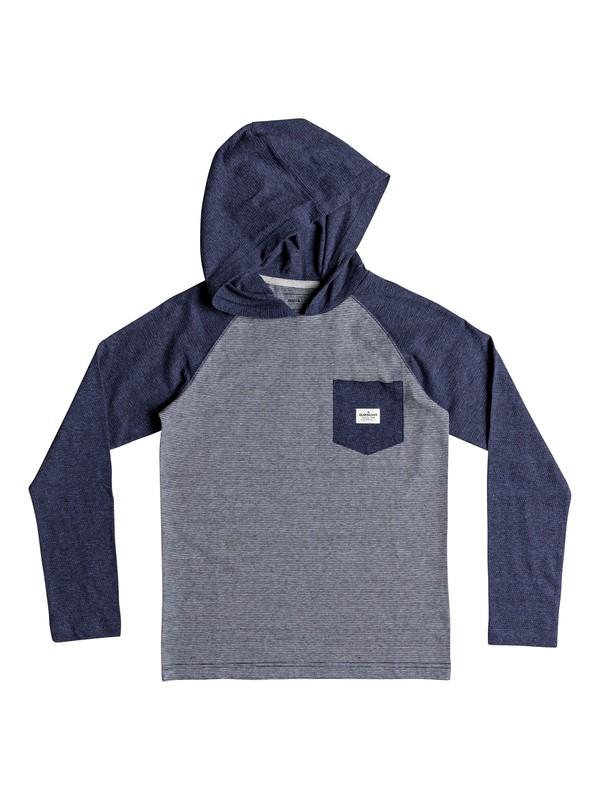 0 Boy's 8-16 Michi Long Sleeve Hooded Top Blue EQBKT03204 Quiksilver