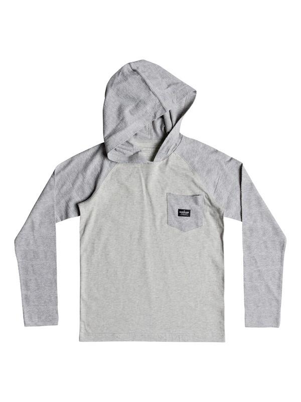 0 Boy's 8-16 Michi Long Sleeve Hooded Top Grey EQBKT03204 Quiksilver