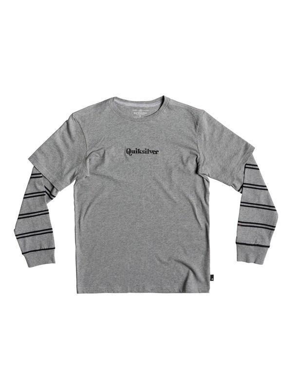 0 Warrior Soul - T-shirt double épaisseur pour garçon 8-16 ans Noir EQBKT03207 Quiksilver