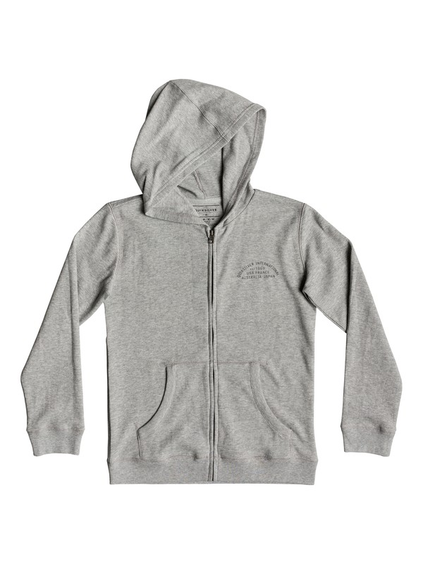 0 Stone Age Romeo - Zip-Up Hoodie for Boys 8-16 Grey EQBKT03212 Quiksilver