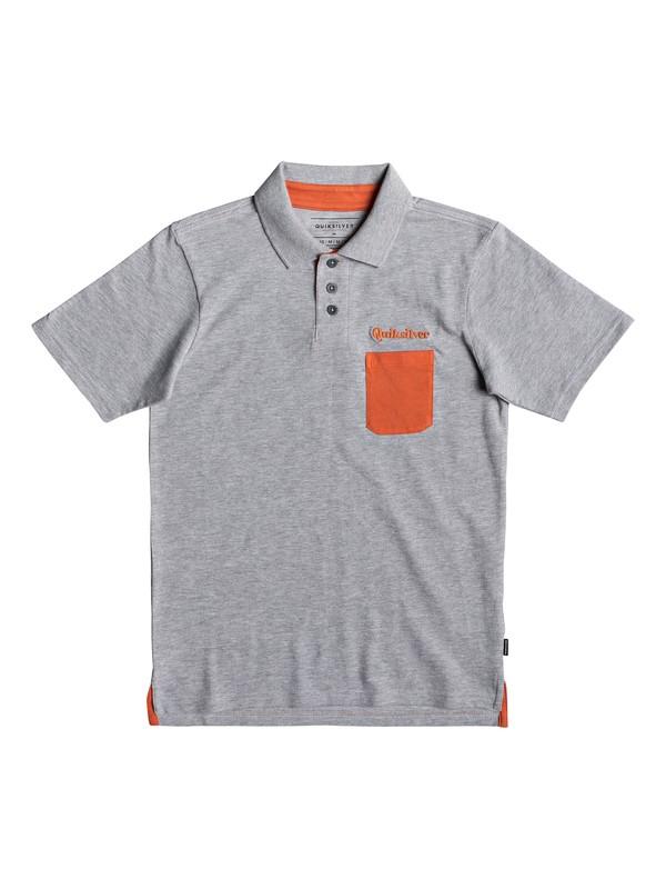 0 Good Ad Vice - Short Sleeve Polo Shirt for Boys 8-16 Grey EQBKT03217 Quiksilver