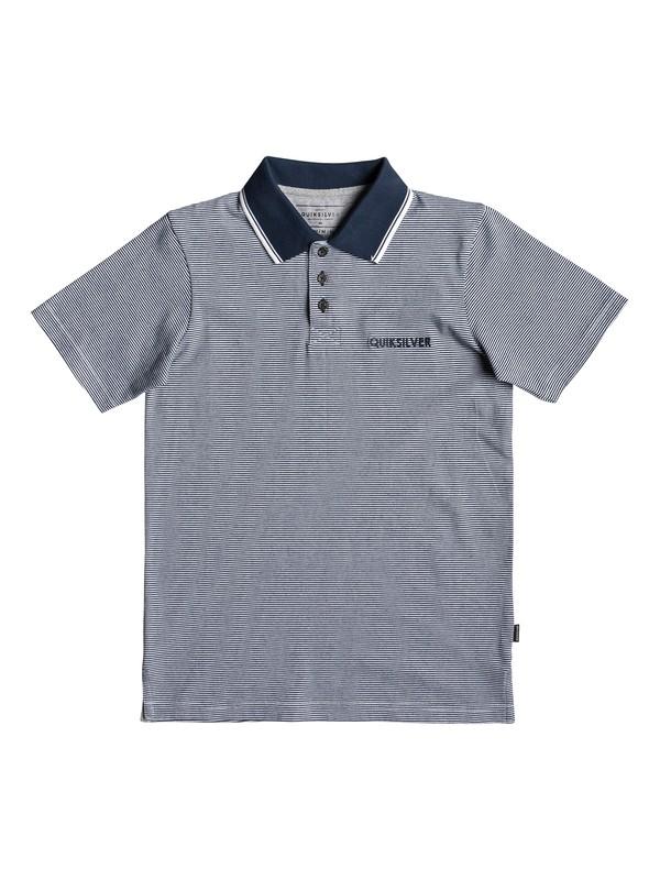 0 Living Vroom - Short Sleeve Polo Shirt for Boys 8-16 Blue EQBKT03218 Quiksilver