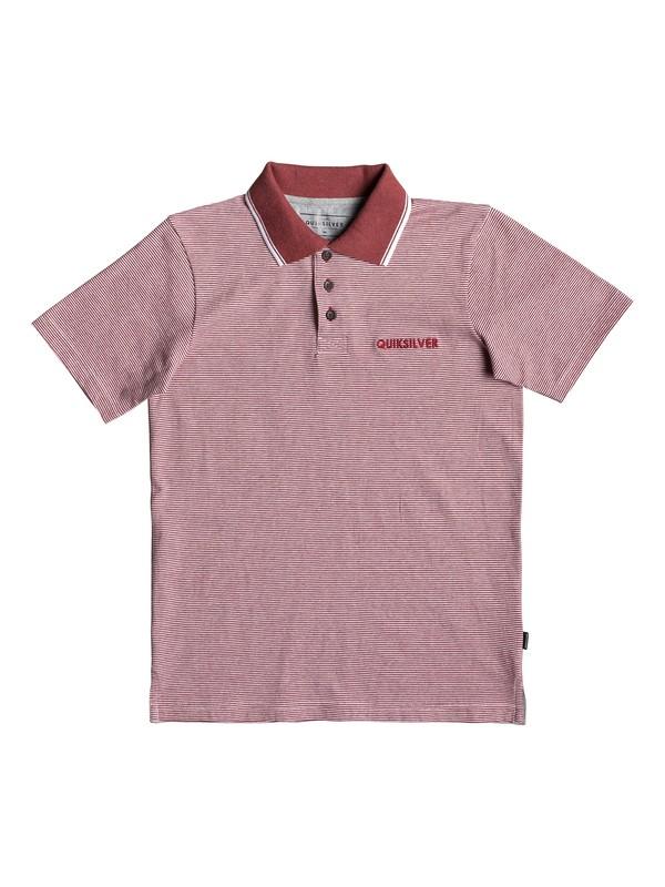 0 Living Vroom - Polo manches courtes pour garçon 8-16 ans Rouge EQBKT03218 Quiksilver