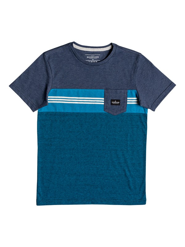 0 Boy's 8-16 Holy Kiss Pocket Tee Blue EQBKT03223 Quiksilver