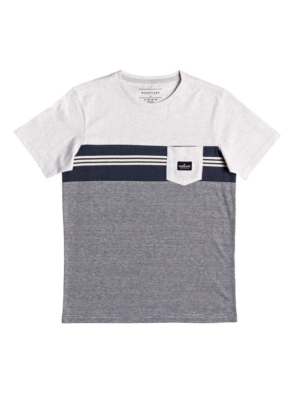 0 Boy's 8-16 Holy Kiss Pocket Tee White EQBKT03223 Quiksilver