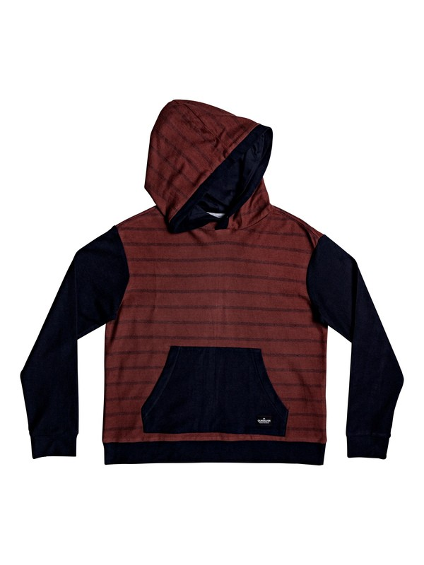 0 Boy's 8-16 Coffs Water Long Sleeve Hooded Top Red EQBKT03230 Quiksilver