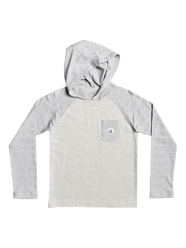 0 Boys 8-16 Michi Long Sleeve Hooded Top Grey EQBKT03247 Quiksilver