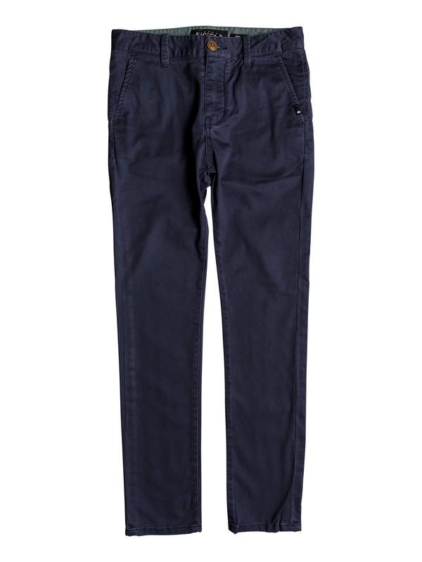 0 Krandy - Pantalon chino pour Garçon 8-16 ans Bleu EQBNP03062 Quiksilver