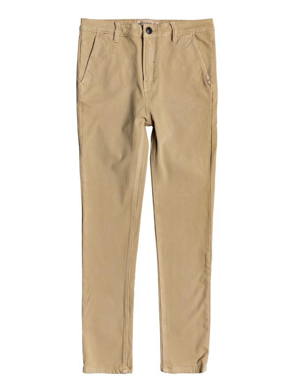 0 Krandy - Pantalon chino pour Garçon 8-16 ans Marron EQBNP03062 Quiksilver