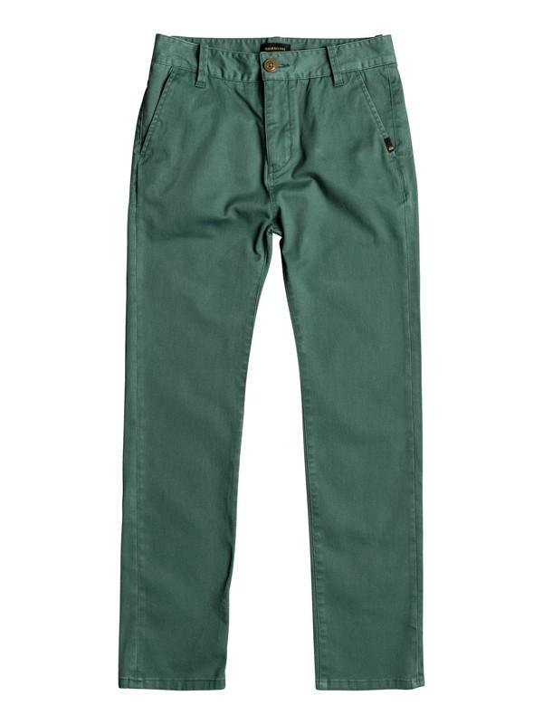 0 Krandy - Chinos für Jungen 8-16 Grün EQBNP03062 Quiksilver