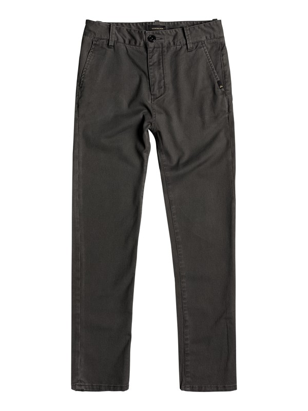 0 Boy's 8-16 Krandy Chinos Black EQBNP03062 Quiksilver