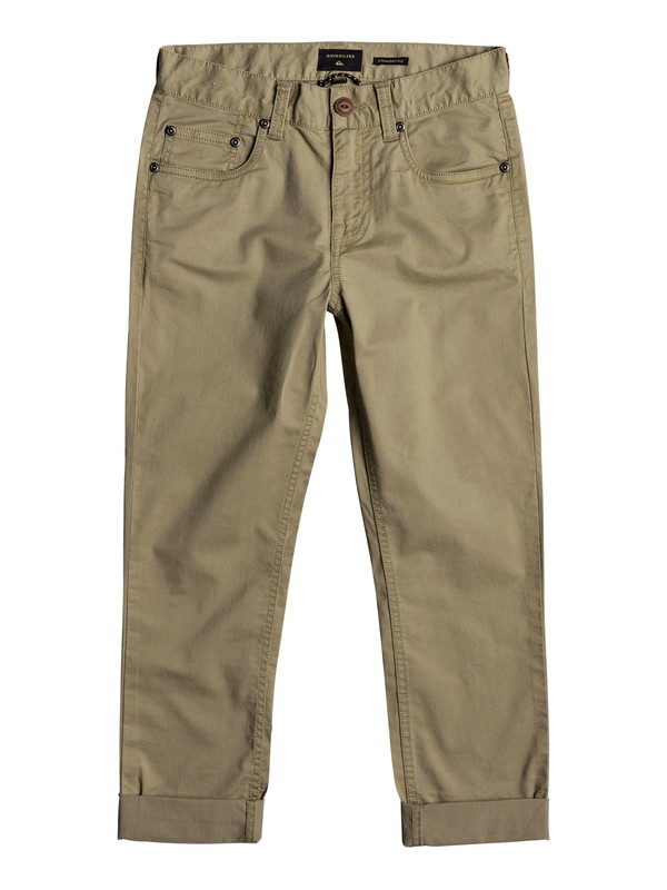 0 Midnight Ankle - Straight Fit Trousers for Boys 8-16 Beige EQBNP03063 Quiksilver