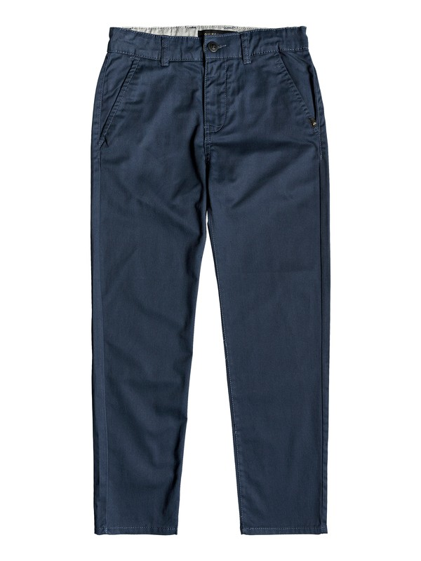 0 Boy's 8-16 Everyday Union Straight Fit Chinos Blue EQBNP03065 Quiksilver
