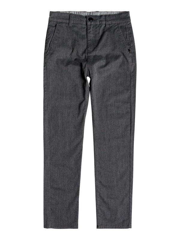 0 Boy's 8-16 Everyday Union Straight Fit Chinos Black EQBNP03065 Quiksilver