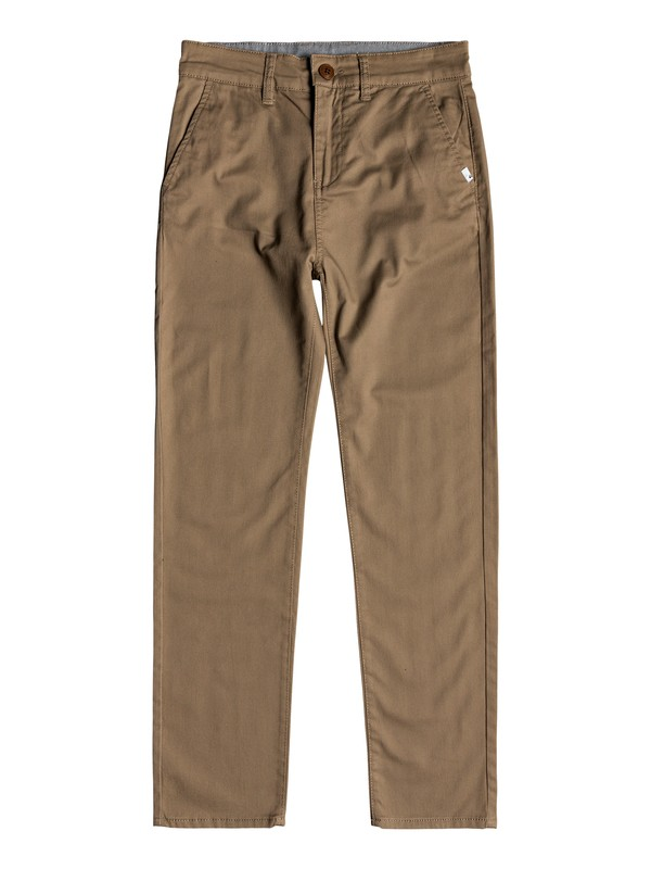 0 Boy's 8-16 Everyday Union Straight Fit Chinos Beige EQBNP03065 Quiksilver