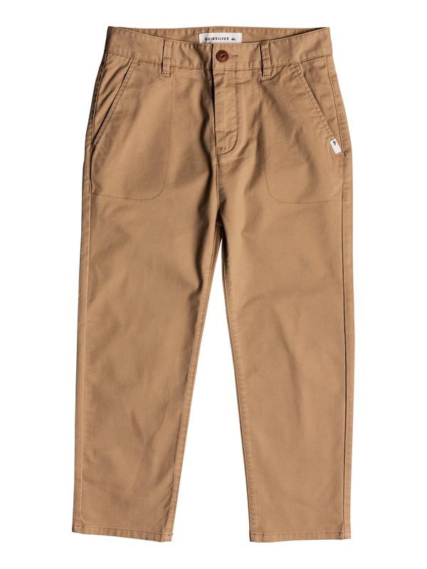 0 Omine - Pantalon longueur cheville pour Garçon 8-16 ans Marron EQBNP03069 Quiksilver