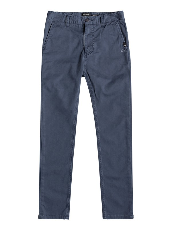 0 Krandy - Slim Fit Chinos for Boys 8-16 Blue EQBNP03072 Quiksilver