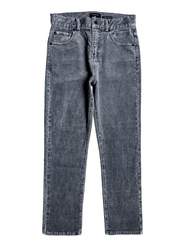0 Boy's 8-16 Kracker Tapered Corduroy Pants Black EQBNP03078 Quiksilver