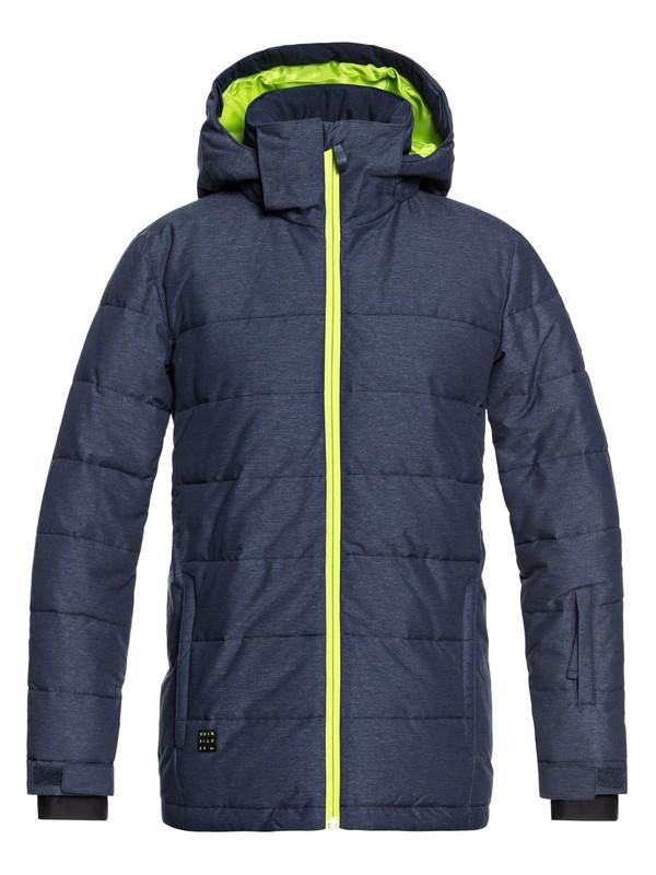 0 The Edge - Snow Jacket for Boys 8-16 Blue EQBTJ03071 Quiksilver