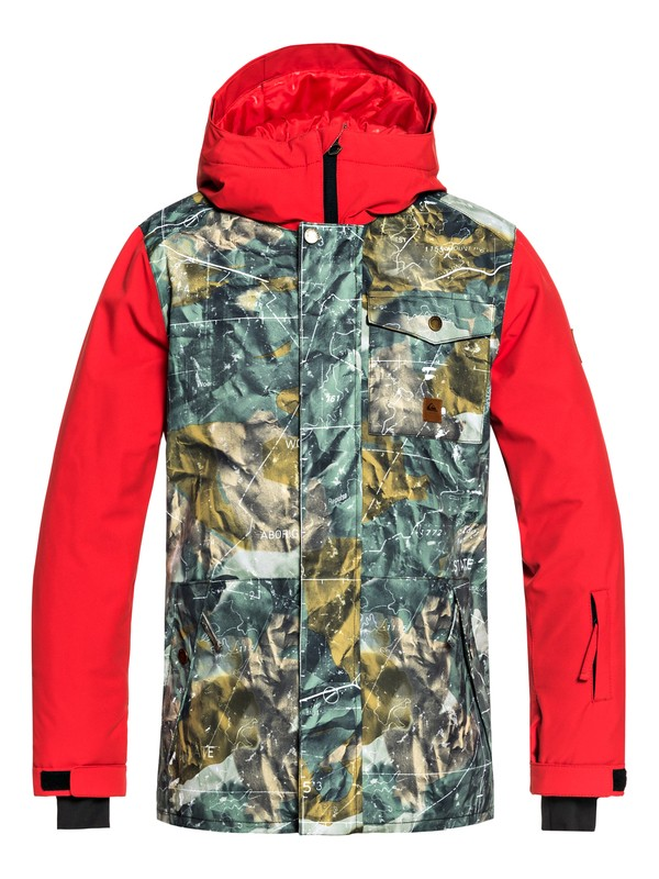 0 Boy's 8-16 Ridge Snow Jacket Brown EQBTJ03072 Quiksilver