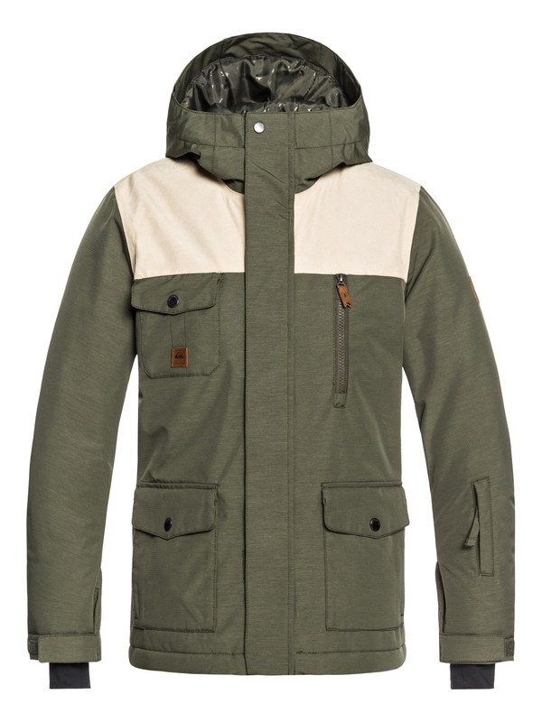 0 Boy's 8-16 Raft Snow Jacket Brown EQBTJ03073 Quiksilver