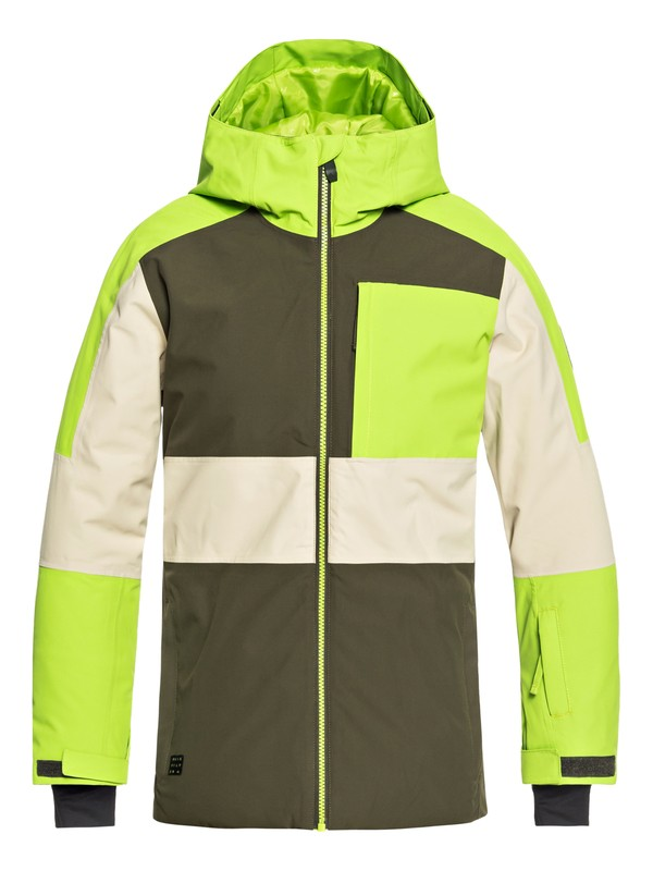0 Boy's 8-16 Sycamore Snow Jacket Brown EQBTJ03075 Quiksilver