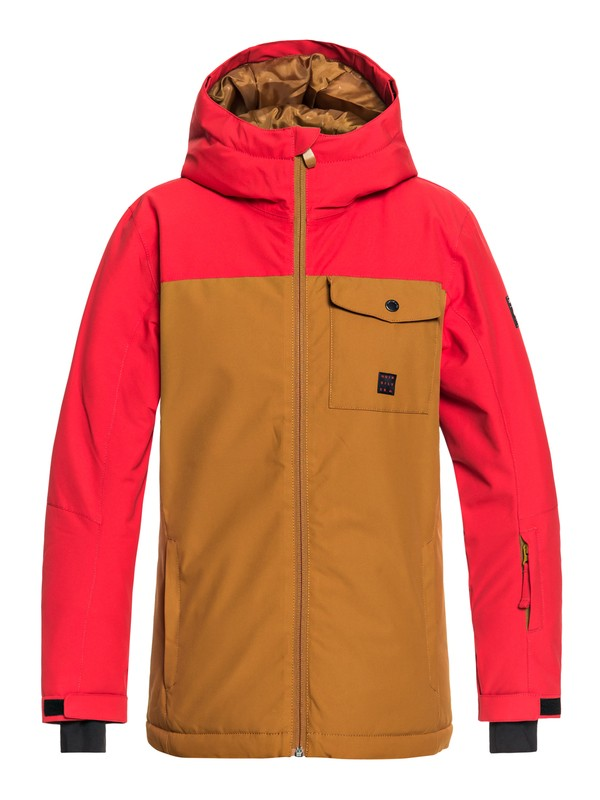 0 Boy's 8-16 Mission Snow Jacket Brown EQBTJ03078 Quiksilver