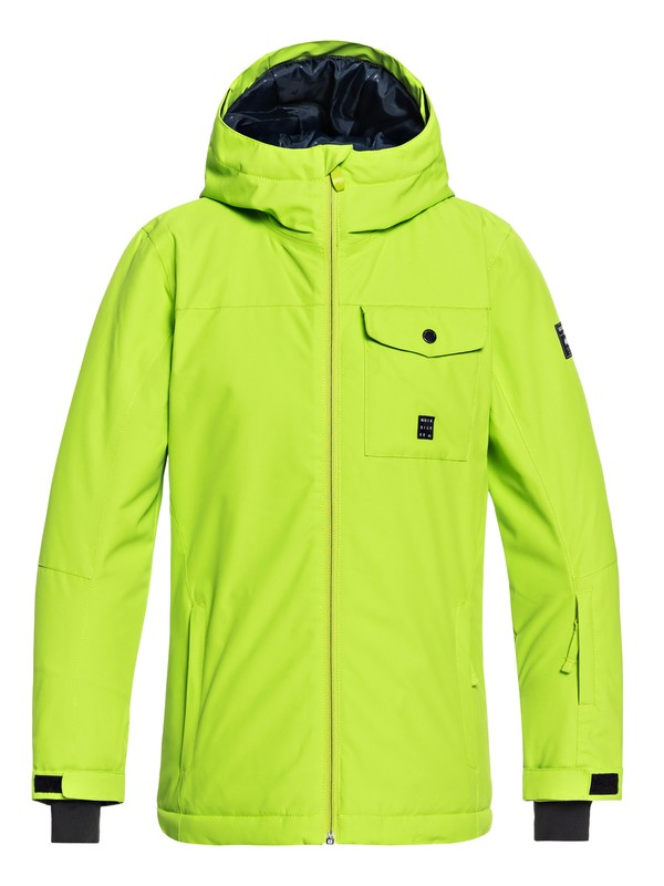 0 Boy's 8-16 Mission Snow Jacket Green EQBTJ03078 Quiksilver