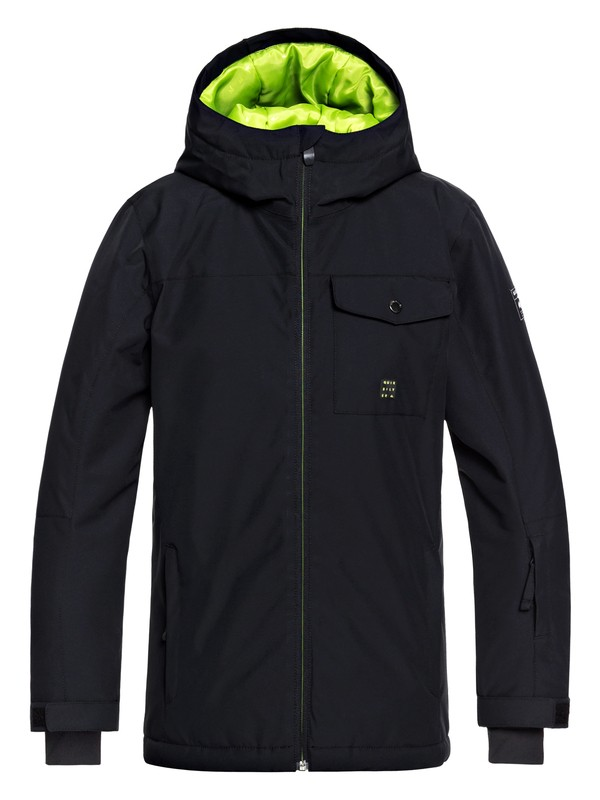 0 Boy's 8-16 Mission Snow Jacket Black EQBTJ03078 Quiksilver