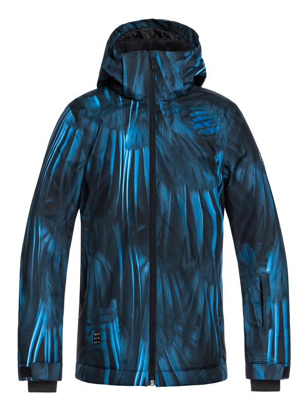 0 Boy's 8-16 Mission Snow Jacket Blue EQBTJ03079 Quiksilver
