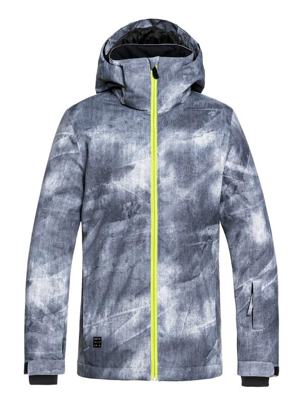 0 Boy's 8-16 Mission Snow Jacket Black EQBTJ03079 Quiksilver
