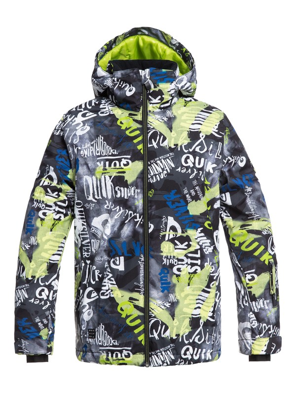 0 Mission - Snow Jacket for Boys 8-16 Black EQBTJ03079 Quiksilver