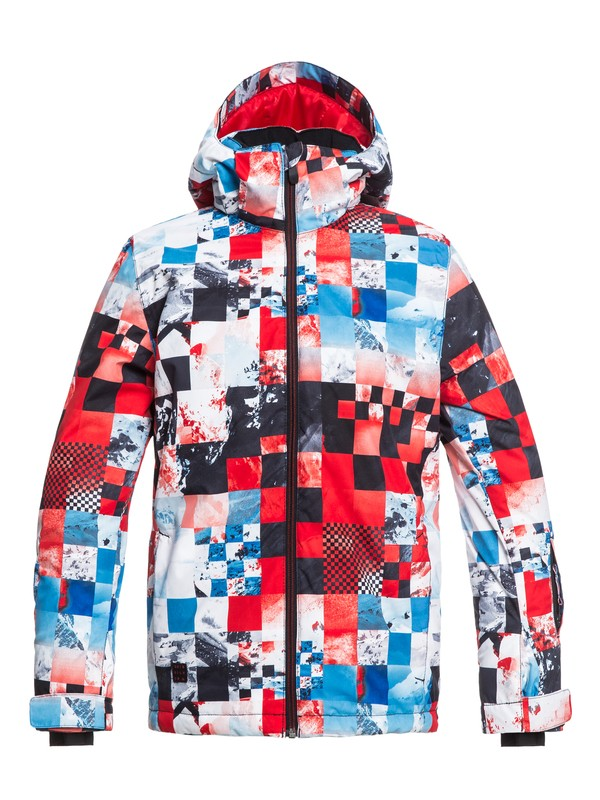 0 Mission - Snow Jacket for Boys 8-16 Red EQBTJ03079 Quiksilver