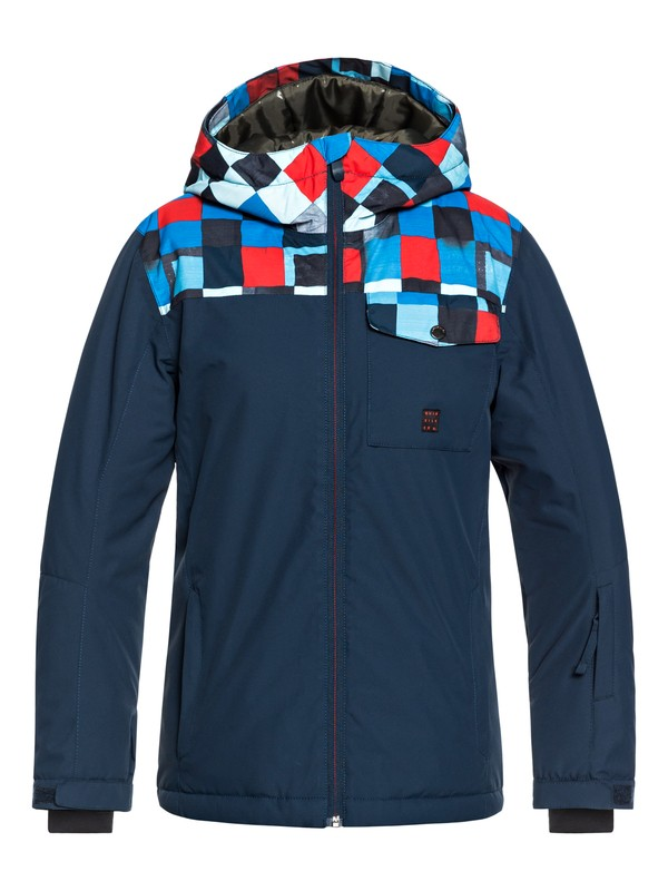 0 Mission Block - Snow Jacket for Boys 8-16 Blue EQBTJ03080 Quiksilver