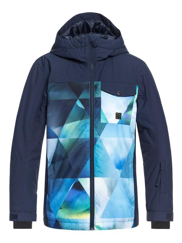 0 Boy's 8-16 Mission Block Snow Jacket Green EQBTJ03080 Quiksilver