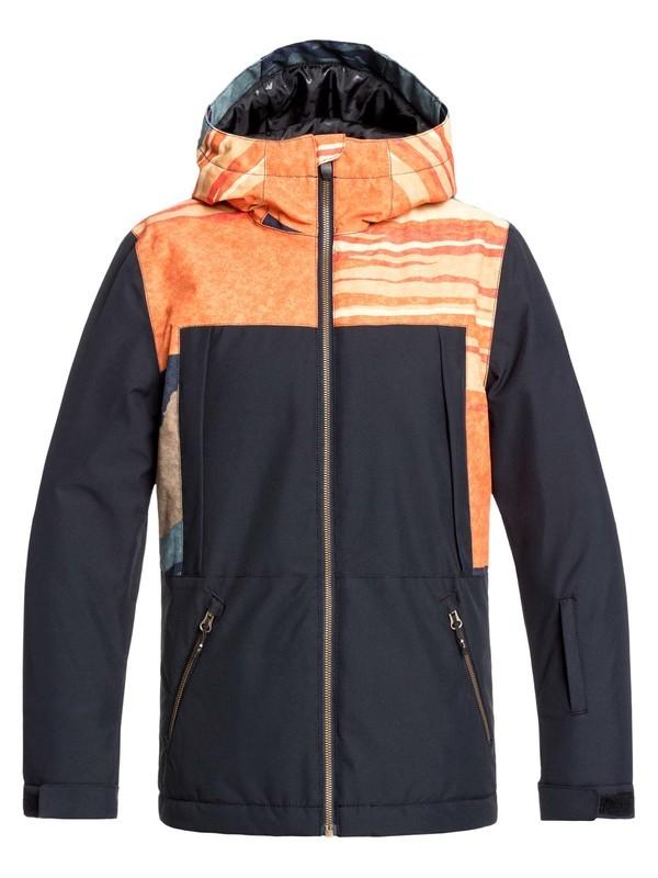0 Boy's 8-16 Travis Rice Ambition Snow Jacket Orange EQBTJ03092 Quiksilver