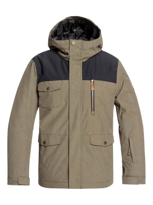 0 Boy's 8-16 Raft Snow Jacket Brown EQBTJ03093 Quiksilver