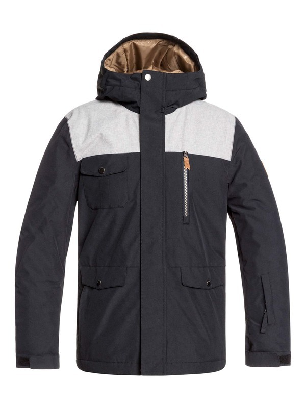 0 Boy's 8-16 Raft Snow Jacket Black EQBTJ03093 Quiksilver