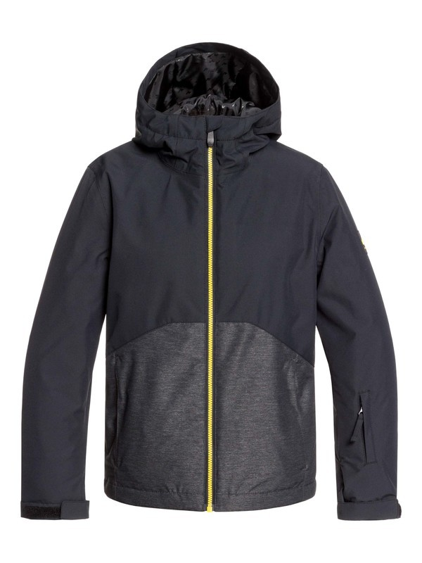 0 Boy's 8-16 Sierra Snow Jacket Black EQBTJ03095 Quiksilver